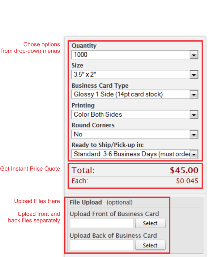 price calculator for online printing services